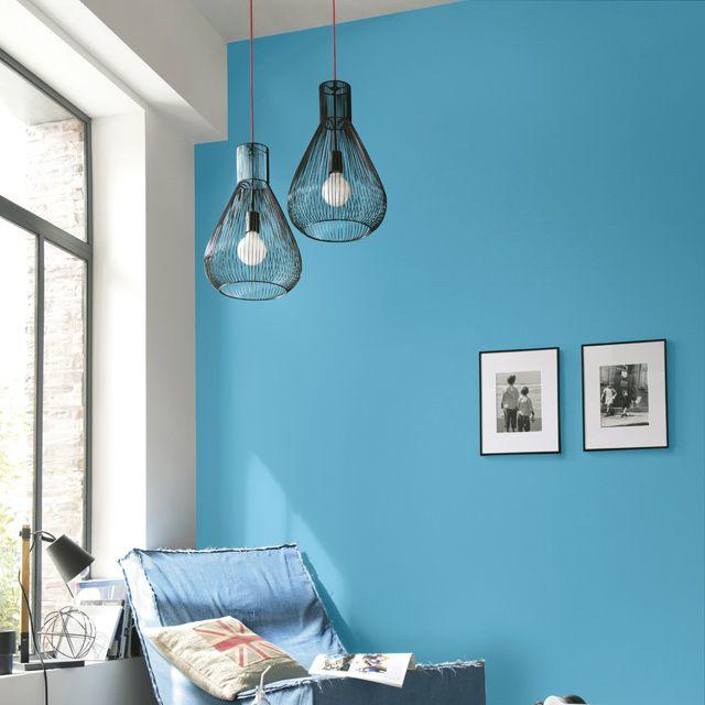 Les 37 meilleures images propos de inspirations peinture for Peinture mur bleu