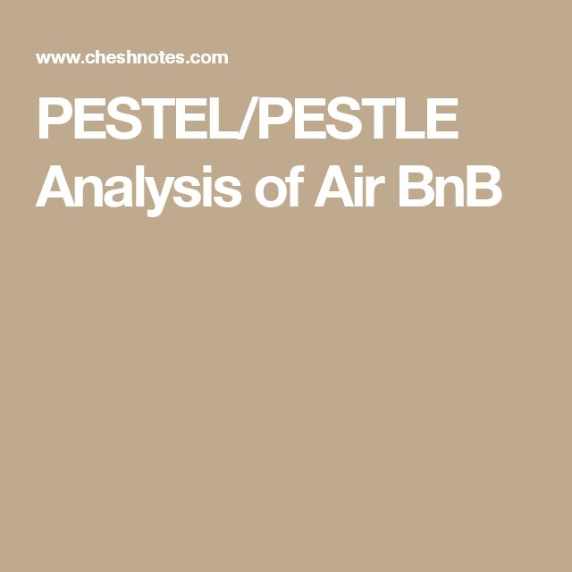 PESTEL PESTLE Analysis of Air BnB Marketing notes Pinterest - pest analysis
