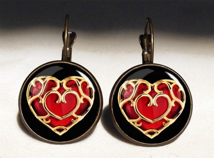 ZELDA Heart Container Big Earrings, 0346ERB from EgginEgg by DaWanda.com