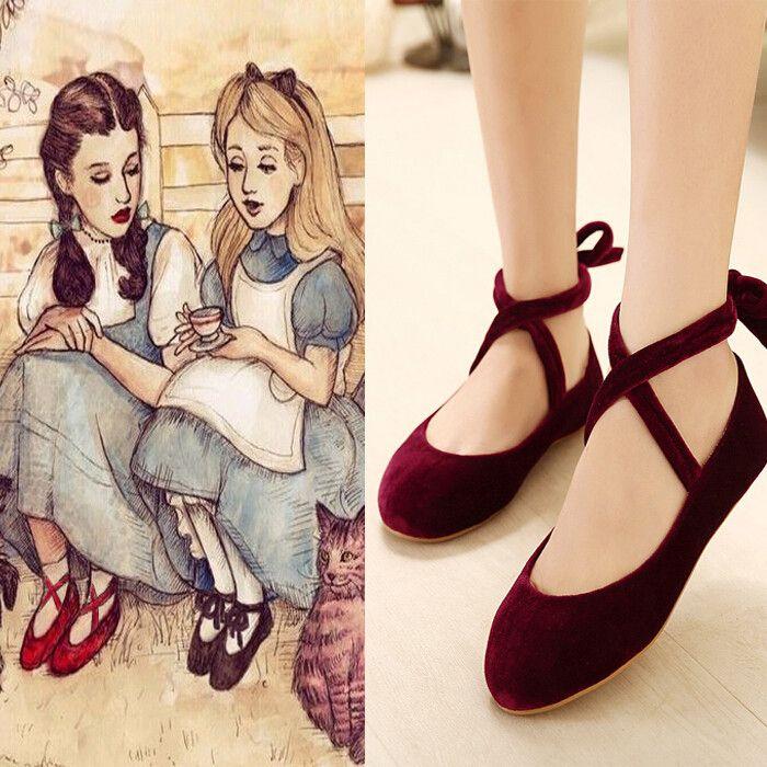 Cute sweet lolita ballet shoes