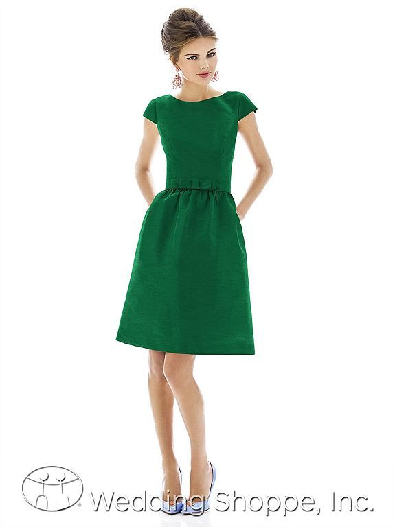 Alfred Sung D570 Bridesmaid Dress - Green Bridesmaid Dresses from the Wedding Shoppe http://www.weddingshoppeinc.com #Coloroftheyear #emerald #wedding