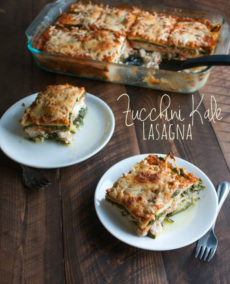 Zucchini-kale-lasagna, zucchini and kale lasagna, gluten free lasagna, zucchini noodles, zucchini lasagna Recipe and instructions here: http://www.sweetphi.com/zucchini-kale-lasagna-naturally-gluten-free/