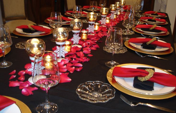 Gold And Red Table Setting Tablescape Ttablescape