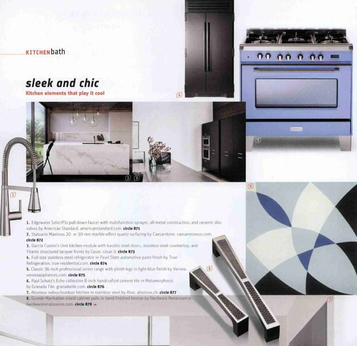 The Verona Light Blue 36 Range Was Featured In Interior Design Magazines Fall Market Tabloid