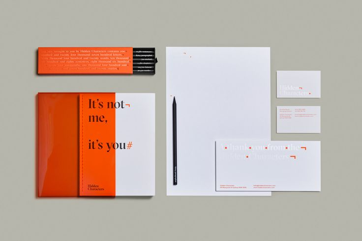 Brand identity and stationery for Sydney-based PR firm Hidden Characters by RE, Australia