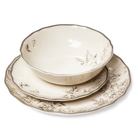Spring Rush Dinnerware Set 12-pc. White - Beekman 1802 FarmHouse™ : Target I love this pattern