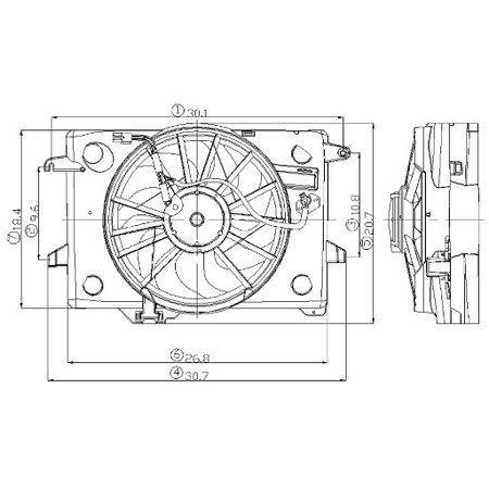Auto Tires Electric Cooling Fan Radiator Fan Fan
