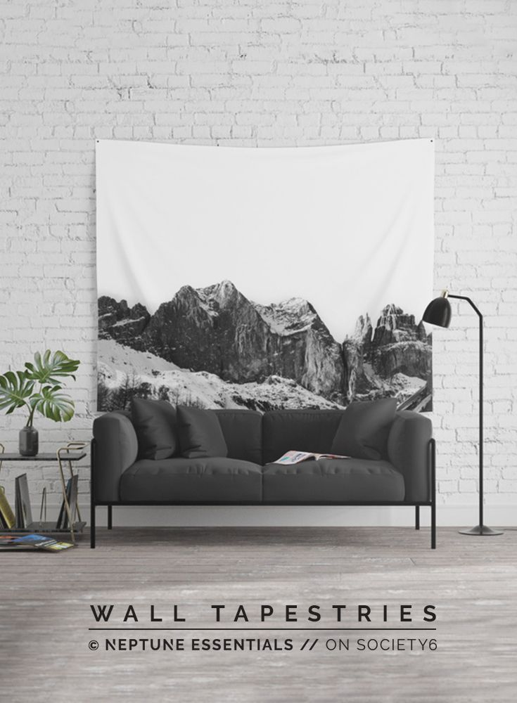 Mountains Are Calling Wall Tapestry    Available in three distinct sizes, our Wall Tapestries are made of 100% lightweight polyester with hand-sewn finished edges. Featuring vivid colors and crisp lines, these highly unique and versatile tapestries are durable enough for both indoor and outdoor use. Machine washable for outdoor enthusiasts, with cold water on gentle cycle using mild detergent - tumble dry with low heat.