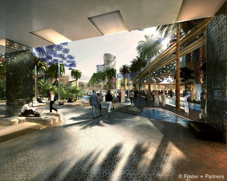 Masdar City (near Abu Dhabi – United Arab Emirates). Project by Foster & Partners.  http://www.archipanic.com/new-urban-ecologies/
