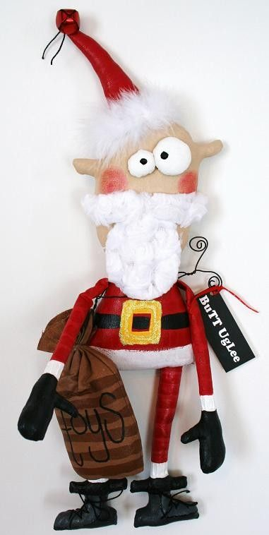 Santa by buttuglee on Etsy