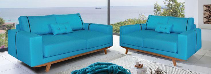 Μοντέρνο design και μοναδική ποιότητα για χώρους με ιδιαίτερο στυλ με αυτό το σετ τριθέσιου και διθέσιου καναπέ. Το πετρόλ με τις καφέ λεπτομέρειες και το καρυδί ξύλο καθιστούν το σετ εξαίσια επιλογή για μικρούς χώρους που έχουν ανάγκη από έξτρα φωτεινότητα. #epiplaki #sofa #furniture #design #moderndesign