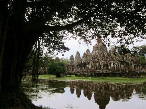 Bayon Temple in Angkor Wat complex - Seam Reap, cambodia