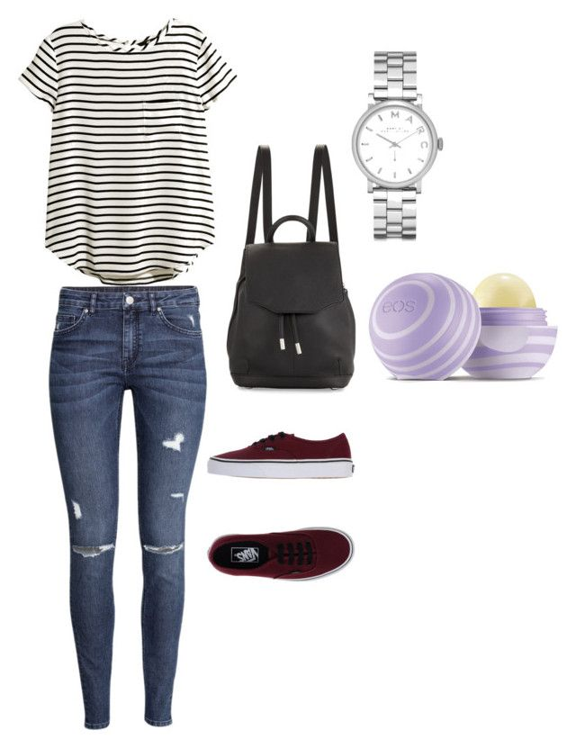 """Untitled #43"" by bestari09 on Polyvore featuring H&M, Vans, rag & bone, Marc by Marc Jacobs and Eos"