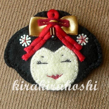 Handmade Embroidered JAPANESE Oriental GEISHA by kirakirahoshi