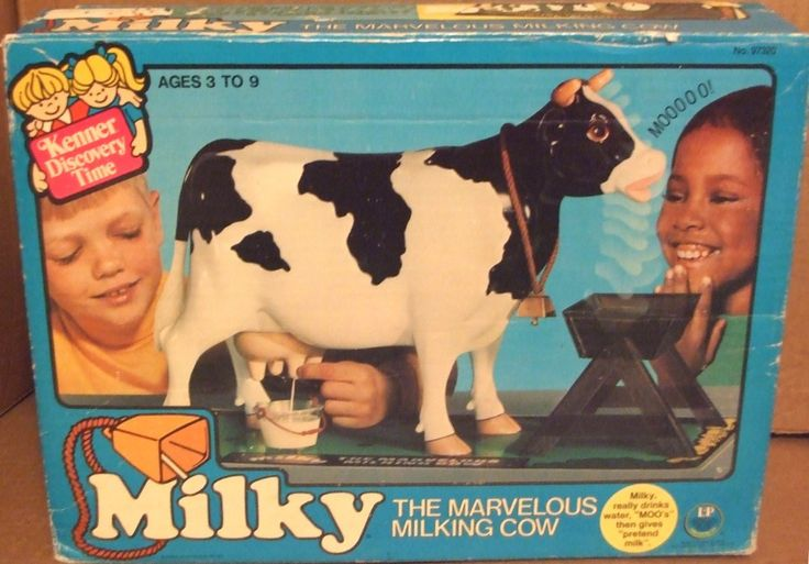1977 Milky The Marvelous Milking Cow. (This is hilarious. I remember seeing it but never had one.)
