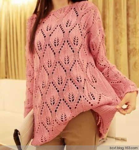 Большие листья пуловеры - вязать счастливым - счастливым вязание блог