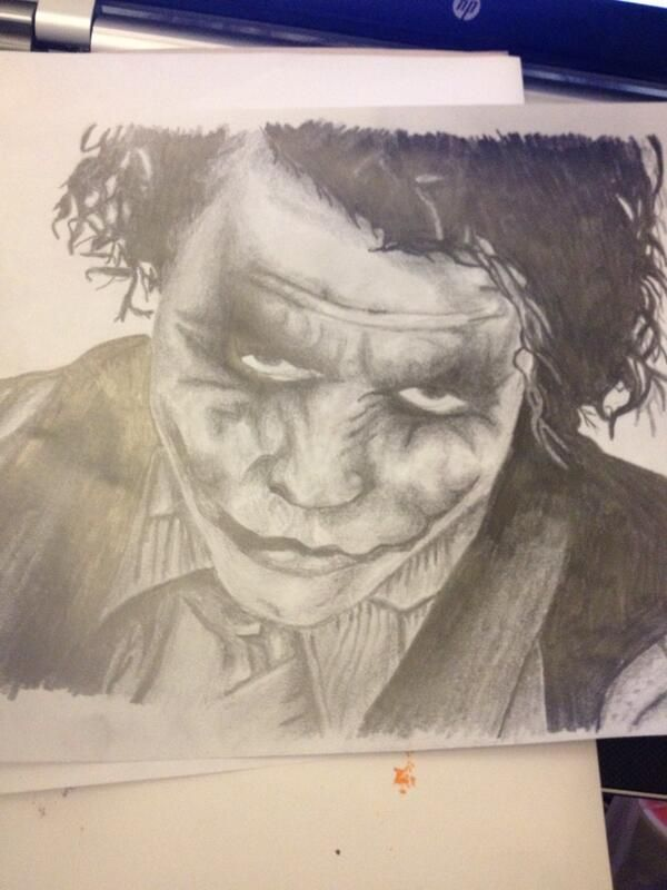 Pencil drawing I did of The Joker.