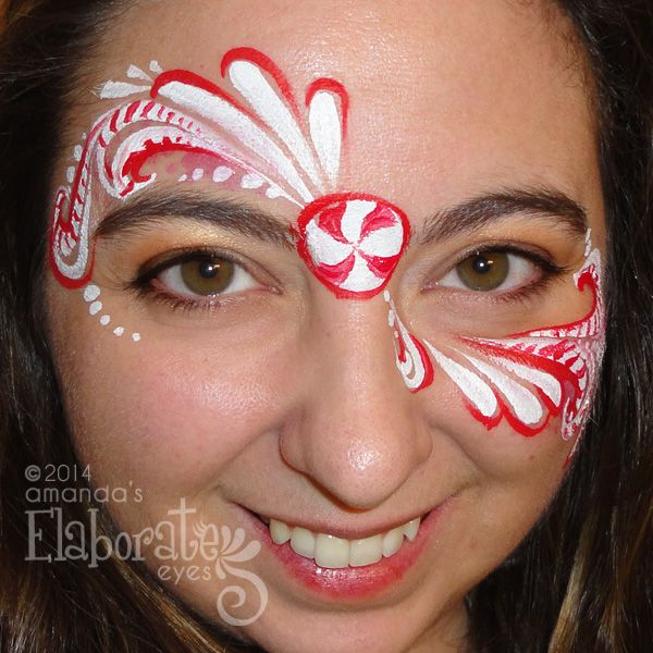 Holiday Face Painting Designs | Amanda's Elaborate Eyes Face ...