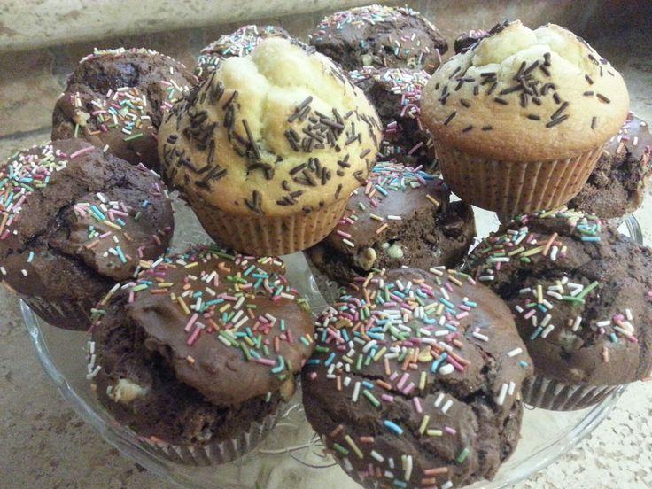 Muffin al cioccolato con Nutella