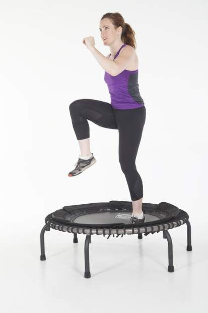 """Few types of exercise give Maggie Annschild the same immediate feedback as using a mini trampoline, which she and her trainer used to improve her balance and core strength. """"It's not one of those exercises where you have to go, 'Is it actually doing any good?'"""" she said. """"I actually felt, 'Oh, I'm getting better at this.'""""The Bend resident, who sees a personal trainer at 360 Strength & Conditioning twice each week, stood on the"""