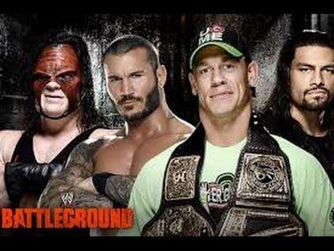 John Cena vs Roman Reigns vs Kane vs Randy Orton-WWE Superstars-Full Mat...