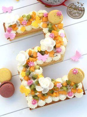 Le sublime #numbercake aux couleurs printanières. #recette #tendance
