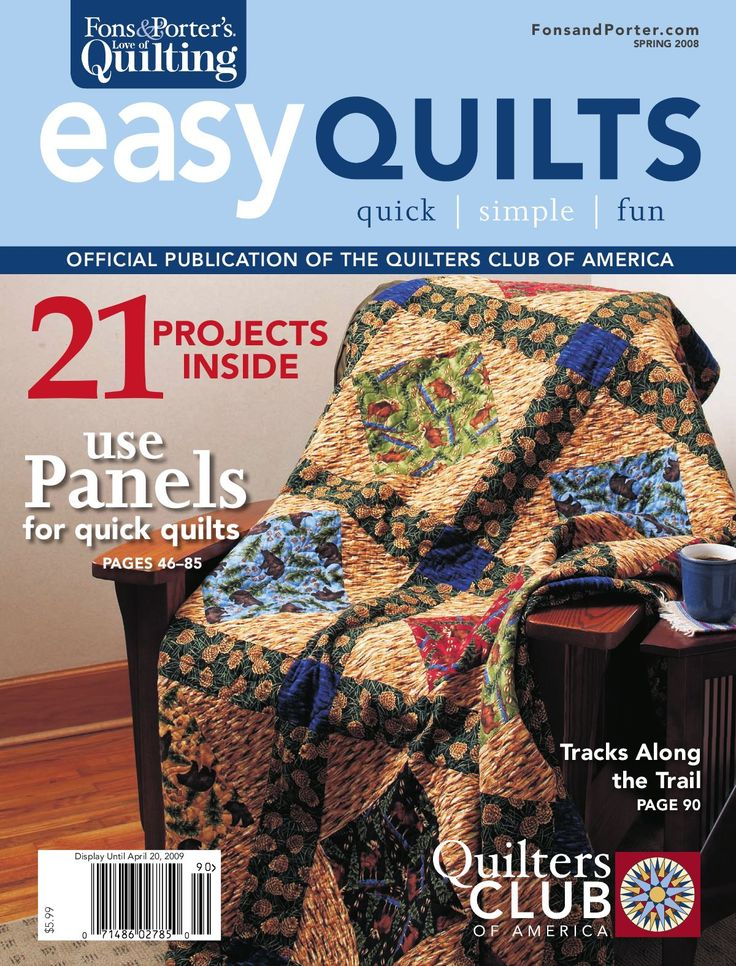 We hope you enjoy the Spring 2009 edition of Fons & Porter's Easy Quilts magazine!