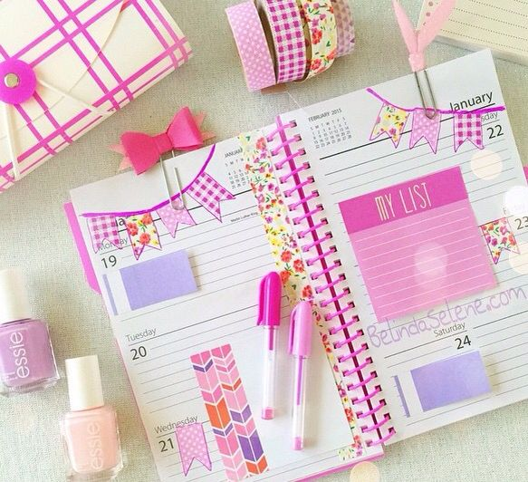 Girly Planner♡ Pinterest ღ Kayla ღ Coisas De