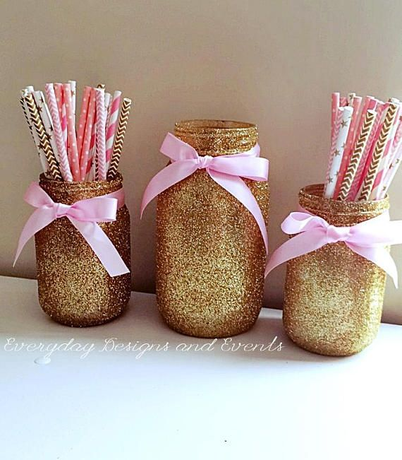 Mason Jar Party Decorations: Best 25+ Gold Mason Jars Ideas On Pinterest