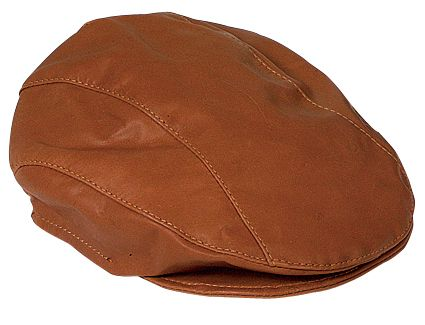 2500 Kangaroo Drivers Cap Tan. Genuine Kangaroo Leather Drivers Cap by Jacaru.