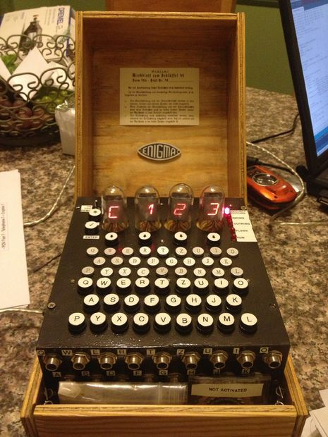 DIY spy: Make your own WWII Enigma Machine via @CNET (I wasn't sure where to file this, but its definitely cool!)