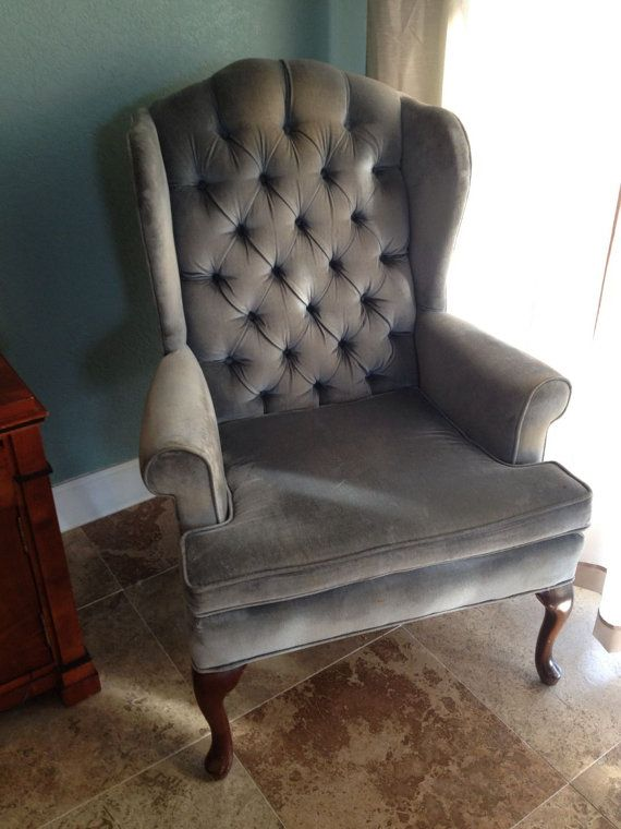 pair wingback arm chairs high back tufted button fairfield