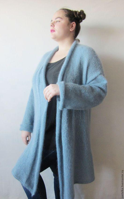 Кофты и свитера ручной работы. Заказать Кардиган из итальянского кид- мохера большого размера(54-58). Светлана (Svetelka). Ярмарка Мастеров.