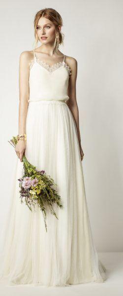 gefunden bei HAPPY BRAUTMODEN         Brautkleid Hochzeitskleid Vintage Boho Rembo Styling fließender Rock Spitze