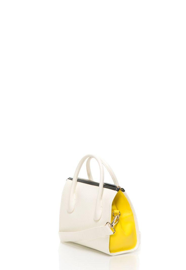 Lacose: Yellow & white bag