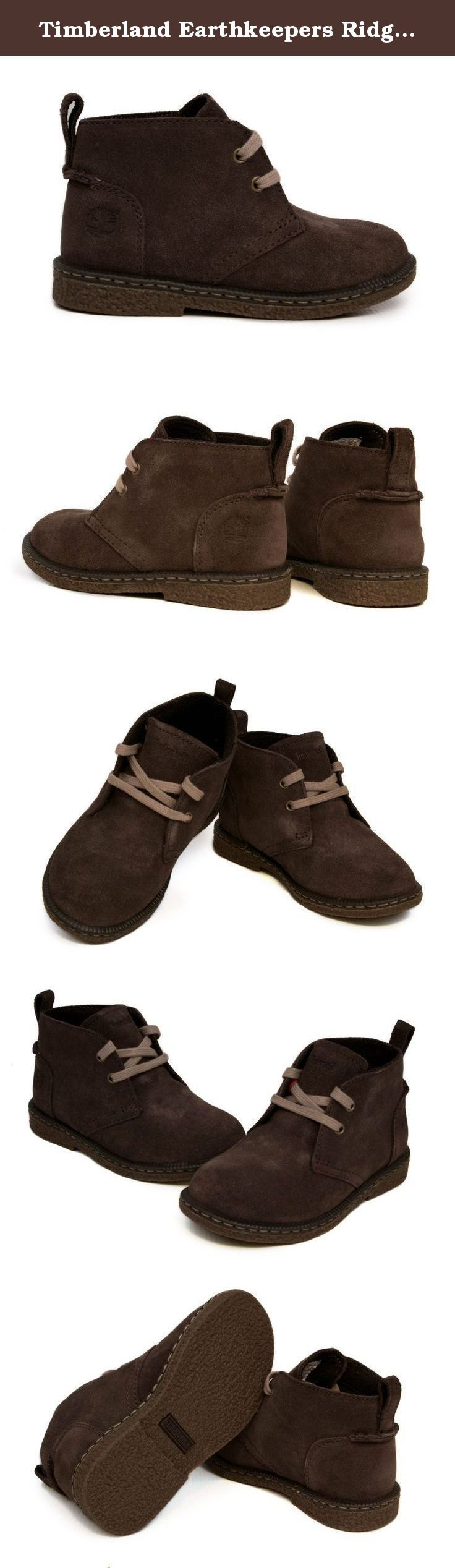 "Timberland Earthkeepers Ridgefield Suede Chukka (Toddler/Little Kid/Big Kid),Dark Brown,5 M US Toddler. Recycled PET mesh lining for comfort. Leather covered footbed for comfort. Ortholite footbed for cushioning. Durable 15% recyceled outdole. ""Does it Fit?"" sockliner."