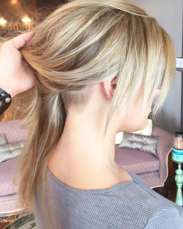 A sneaky undercut:::: Still so feminine and badass all at the same time!  Cut and color by @jawnilundgren @salonwildroots
