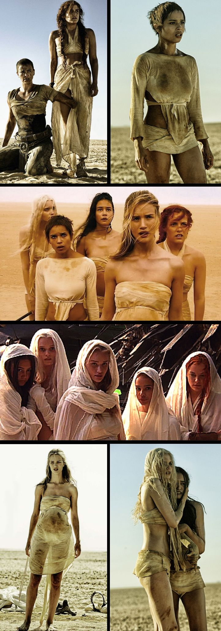 "Immortal Joe's wives in ""Mad Max: Fury Road"" (2015). Costume Designer: Jenny Beavan."