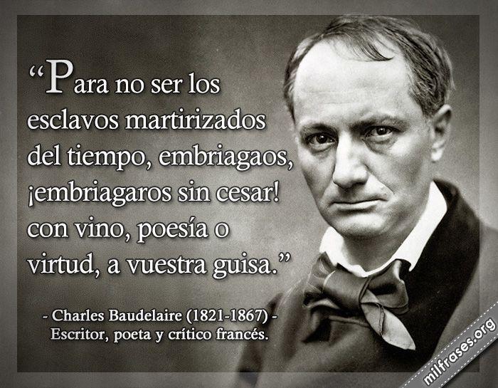 Charles Baudelaire, escritor, poeta y crítico francés.