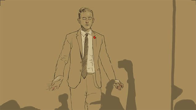 I really love this animation of Joseph Gordon Levitt, perfectly rotoscoped in 89 frames by Carli Ihde, a 22-year-old published comic book artist, illustrator, and graphic designer with a great style. So much that I want to see an entire short movie done in this style.