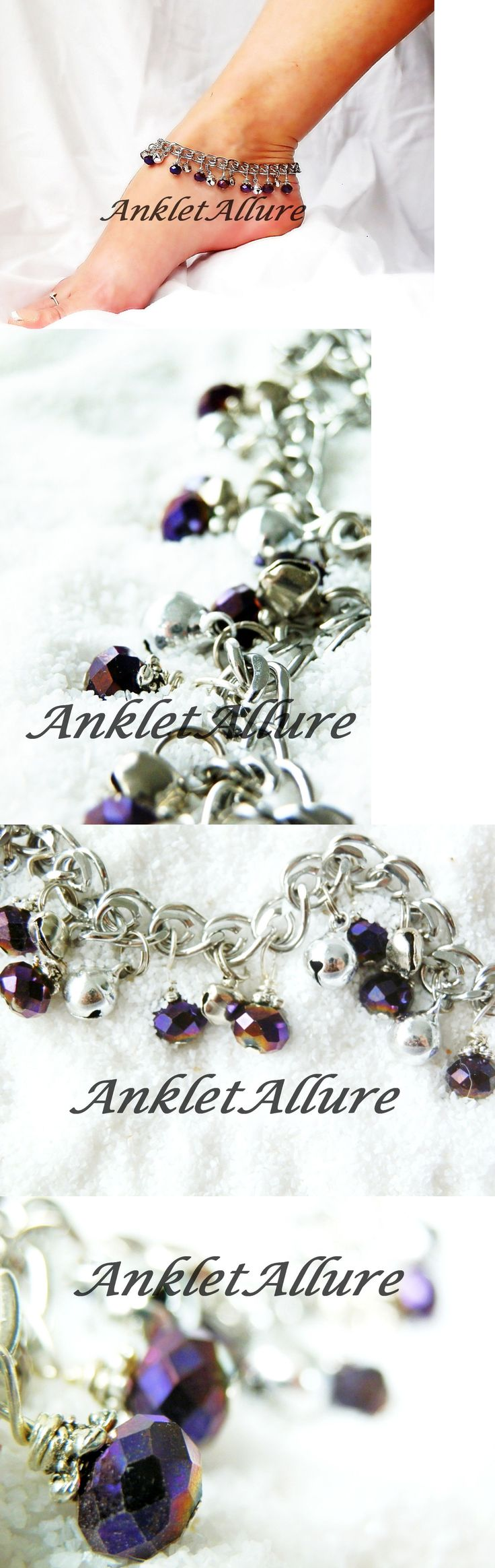 Anklets 110634: Belly Dance Anklet Jingle Bells Anklet Purple Body Jewelry Foot Jewelry -> BUY IT NOW ONLY: $34.0 on eBay!