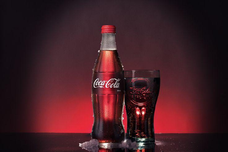 Coke glass bottle