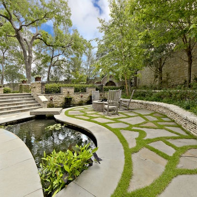 Rooftop/patio Garden And Water Filtration Ideas Nice Stone And Grass Pattern