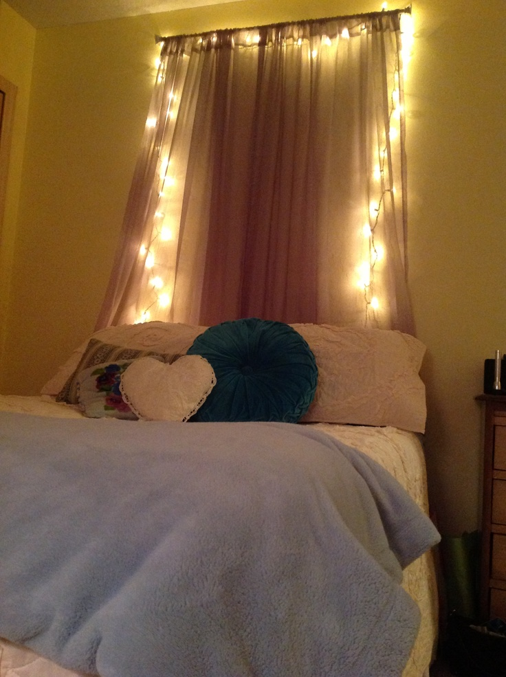 Curtain Headboard With Lights Dream Home Design