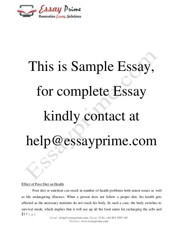 How To Write An Essay About Healthy Food   Vision Professional