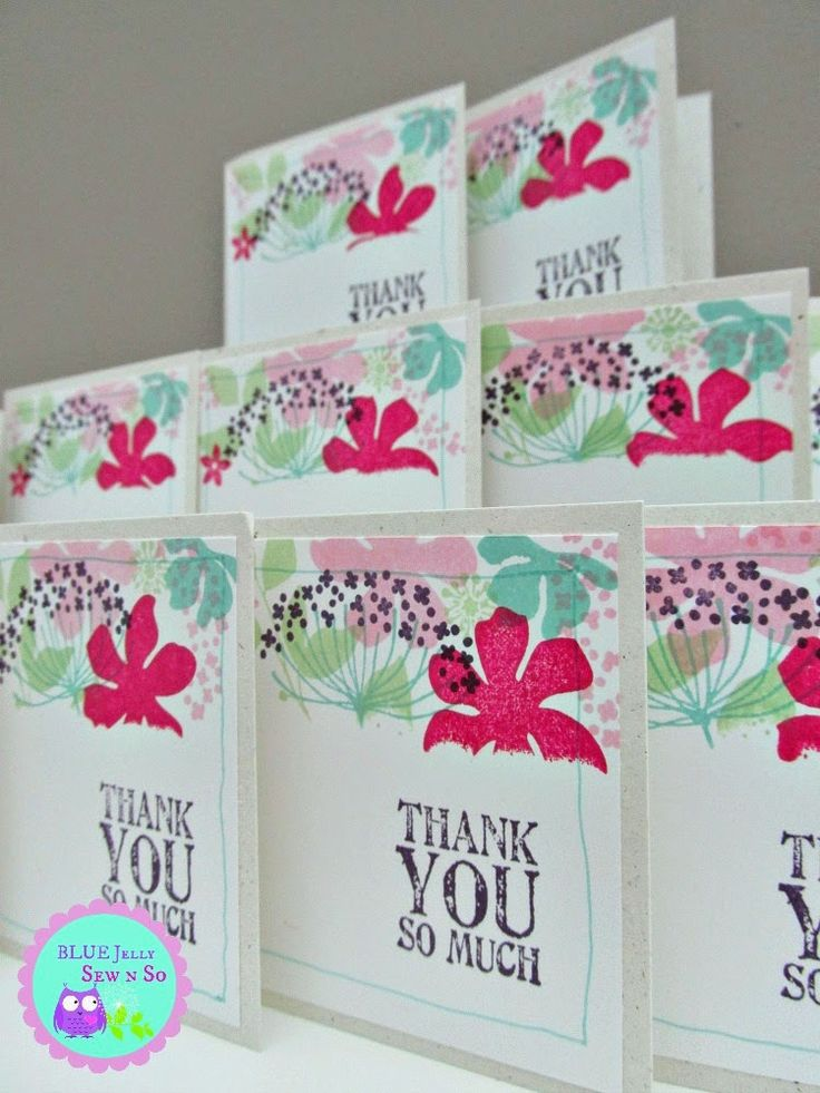 Thank You cards and a photo tutorial