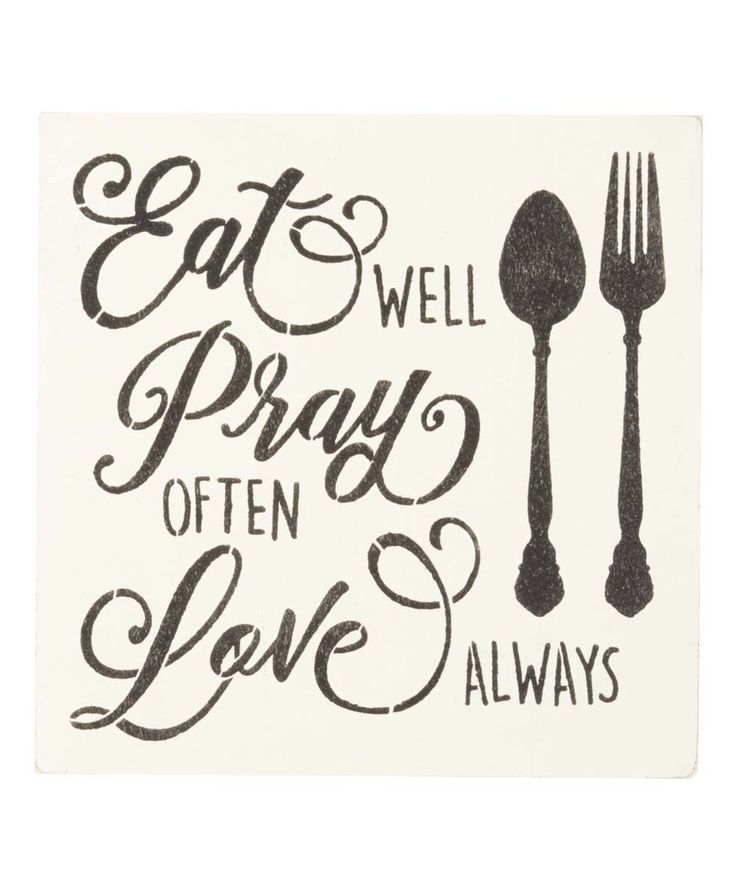 Modern Kitchen Wall Decor Eat Pray Love Trio By: 25+ Best Ideas About Kitchen Signs On Pinterest
