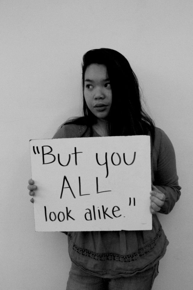 """""""Microaggression"""" photo featuring Clackamas High School junior, Gabrielle Nguyen. The student project opened in Spring 2016."""