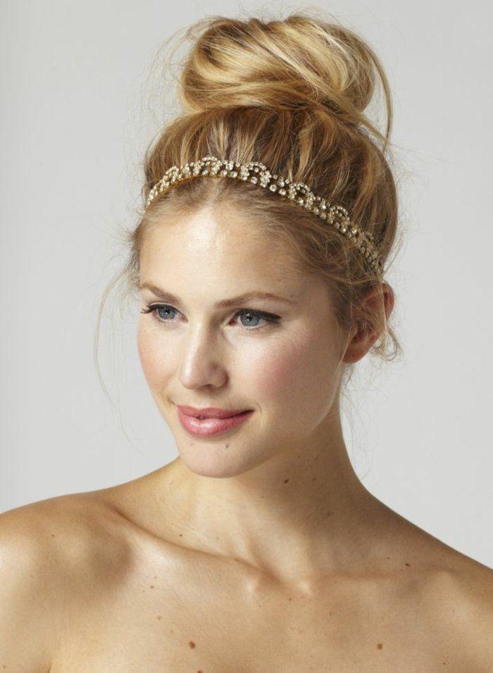 frisuren mit haarband blondes haar hochteckfrisur