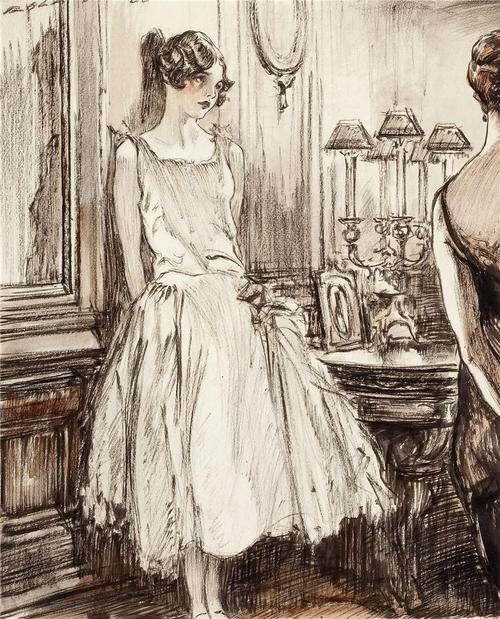 Vintage Wedding Dresses Raleigh Nc: Drawing By Henry Patrick Raleigh